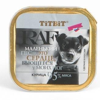 TiTBiT Паштет для собак RAF с курицей (7594), 0,100 кг