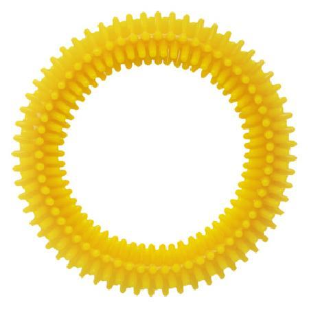 Tappi игрушки Игрушка Сириус для собак кольцо с шипами, желтый, 84 мм  85ор54, 0,116 кг, 41850