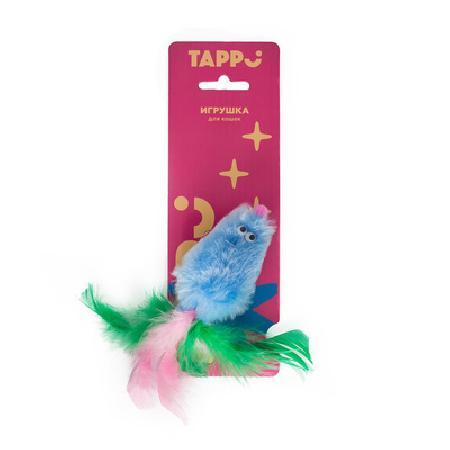 Tappi игрушки Игрушка Тимус для кошек меховая мышь с кошачьей мятой с хвостом из перьев 29оп66, 0,015 кг, 37641