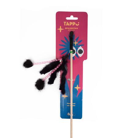 Tappi игрушки Игрушка Фирал дразнилка  для кошек  из натурального меха норки и трубочек на веревке 29оп66, 0,022 кг, 37613