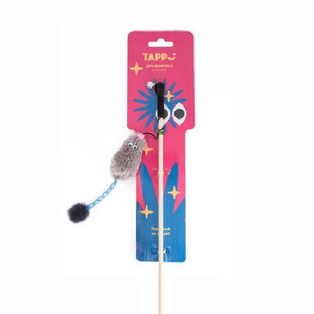 Tappi игрушки Игрушка Тилия дразнилка  для кошек мышь с кошачьей мятой на веревке 29оп66, 0,025 кг, 37626