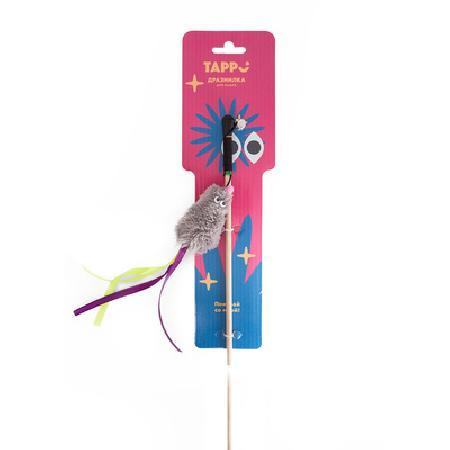 Tappi игрушки Игрушка Тилия дразнилка  для кошек мышь с кошачьей мятой с хвостом из лент на веревке 29оп66, 0,025 кг, 37628