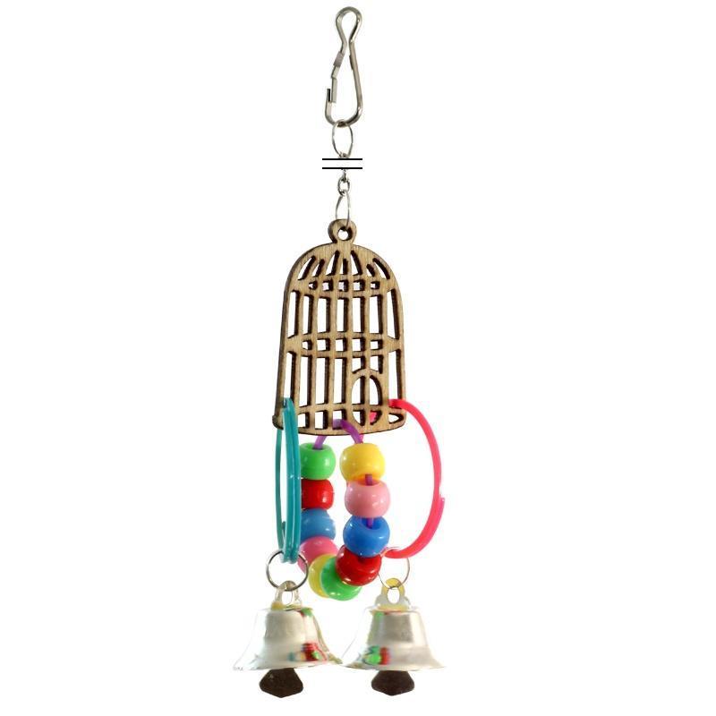 084-КХ Игрушка дптиц Клетка с колокольчиками