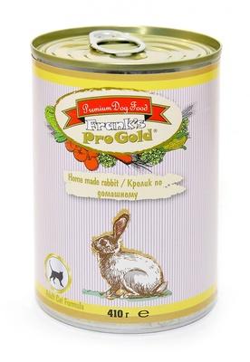 Franks ProGold консервы ВИА Консервы для кошек Кролик по-домашнему (Home made rabbit Adult Cat Recipe), 0,410 кг