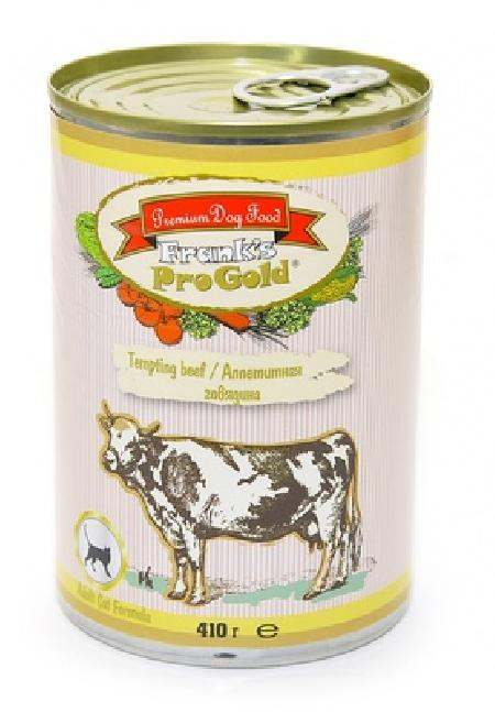Franks ProGold консервы Консервы для кошек Аппетитная говядина 69фо31 43627, 0,415 кг