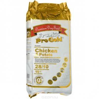 Franks ProGold Для собак Беззерновой: с курицей и Молодым картофелем (Chicken&Potato 28/10), 15,000 кг, 17931