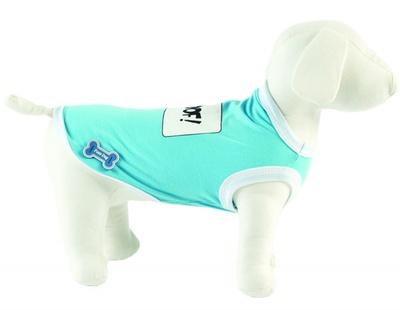 Ferribiella одежда Футболка Woof! (голубой) на длину 30 см (T-SHIRT WOOF AZZU) ABF193/30-AZ, 0,250 кг, 13565