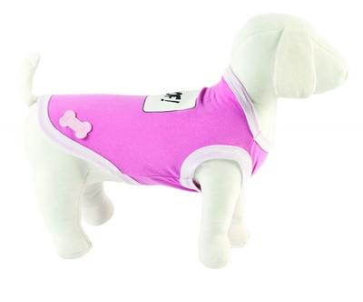 Ferribiella одежда Футболка Woof! (розовый) на длину 20 см (T-SHIRT WOOF ROSA) ABF193/20-RA, 0,250 кг