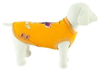 Ferribiella одежда Футболка Лучшие друзья (желтый) на длину 35 см (T-SHIRT BEST FRIENDS GIAL) ABF196/35-G, 0,25 кг, 13587