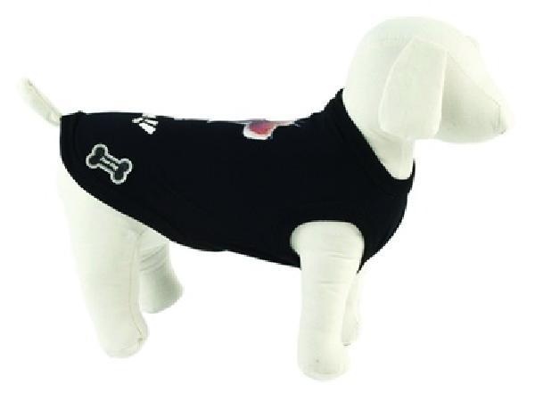 Ferribiella одежда Футболка Лучшие друзья (черный) на длину 15 см (T-SHIRT BEST FRIENDS NERO) ABF196/15-N, 0,250 кг