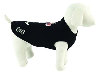 Ferribiella одежда Футболка Лучшие друзья (черный) на длину 25 см (T-SHIRT BEST FRIENDS NERO) ABF196/25-N, 0,250 кг