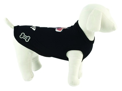 Ferribiella одежда Футболка Лучшие друзья (черный) на длину 30 см (T-SHIRT BEST FRIENDS NERO) ABF196/30-N, 0,250 кг