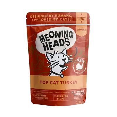 Barking Heads Консервы Паучи для кошек и котят с индейкой, говядиной и курицей Аппетитная индейка (Top Cat Turkey 100g) MWTK100, 0,100 кг