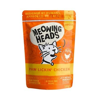 Barking Heads Консервы Паучи для кошек и котят с курицей и говядиной Куриное наслаждение (Paw Lickin' Chicken 100g) MWCK100, 0,100 кг
