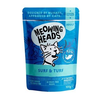 Barking Heads Консервы Паучи для кошек и котят с сардинами, тунцом, курицей и говядиной Все лучшее сразу (SUPURRR SURF & TURF 100g) MWFS100, 0,100 кг