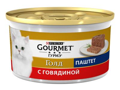Gourmet Консервы Паштет из говядины для кошек (GOURMET GOLD) 12215249/12439976, 0,085 кг
