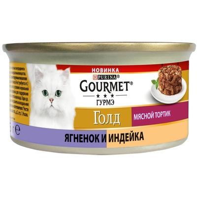 Gourmet Консервы для кошек Мясной Тортик Ягненок с индейкой (Gourmet Gold) 12423662, 0,085 кг