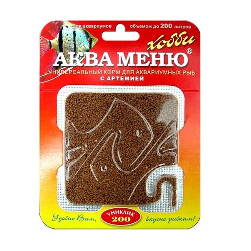 Аква МЕНЮ УНИКЛИК - 200 универсальный корм с артемией 115