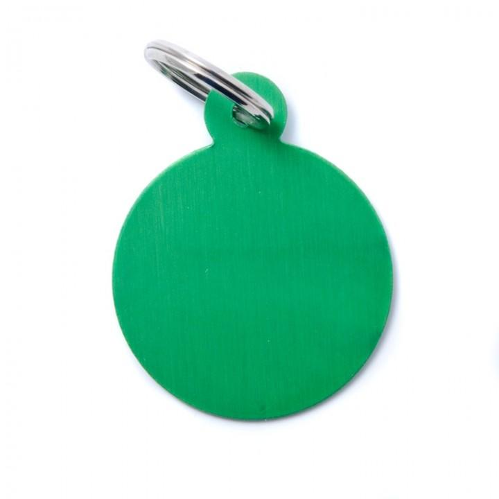 MY FAMILY Адресник BASIC Алюминиевый Большой Круглый зеленый