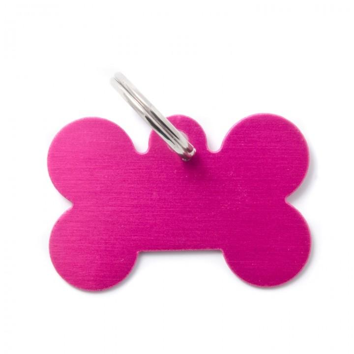 MY FAMILY Адресник BASIC Алюминиевый Большой Косточка розовый