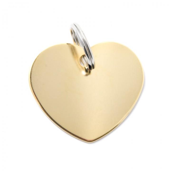 MY FAMILY Адресник BASIC Алюминиевый Большой Сердце Золотистый