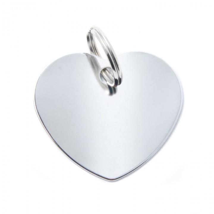 MY FAMILY Адресник BASIC Алюминиевый Большой Сердце зеленый