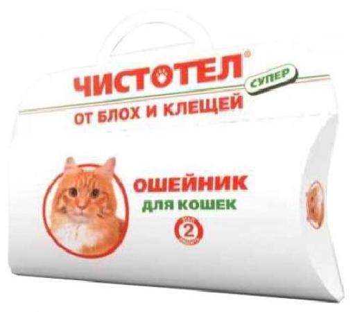 Чистотел Супер ошейник для кошек, от блох и клещей 35 см, 800100553