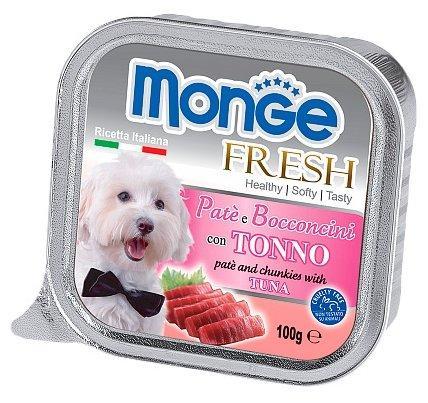 Monge Dog Fresh влажный корм для собак всех пород и возрастов, тунец 100 гр