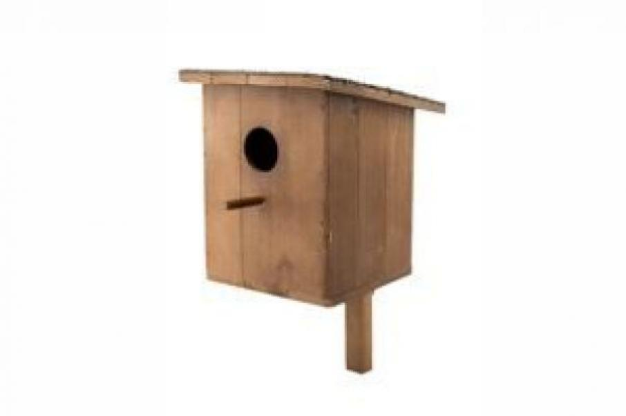 Дарелл 8507 Скворечник деревянный домик для птиц коричневый 20х24х41 см