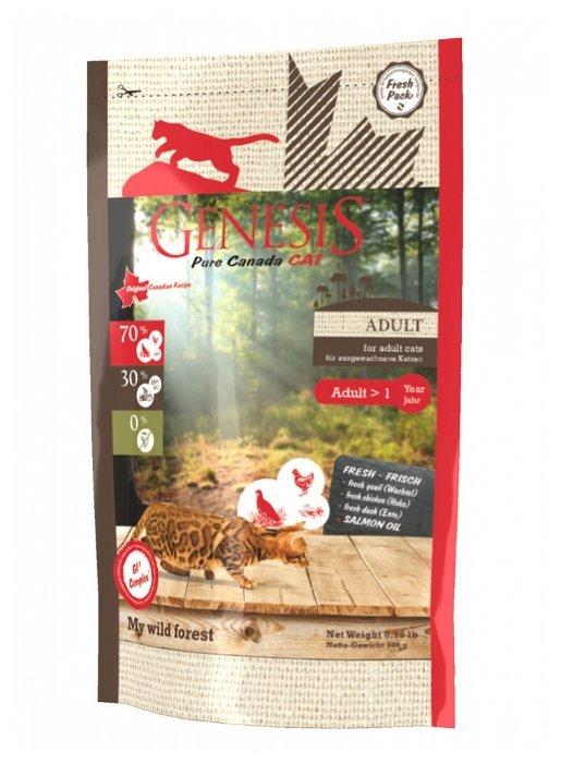 Genesis корм для взрослых кошек всех пород, утка, перепелка и курица 2,268 кг