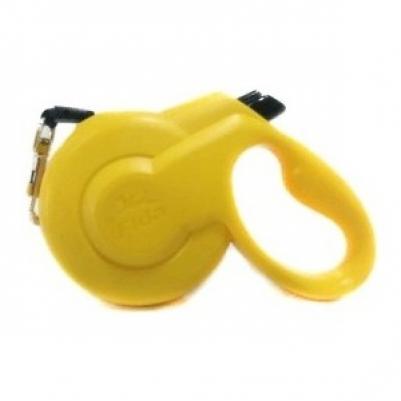 Fida Styleash рулетка-ремень для собак малых пород S (до 15 кг), желтый