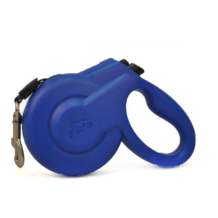 Fida Styleash рулетка-ремень для собак малых пород S (до 15 кг), голубой