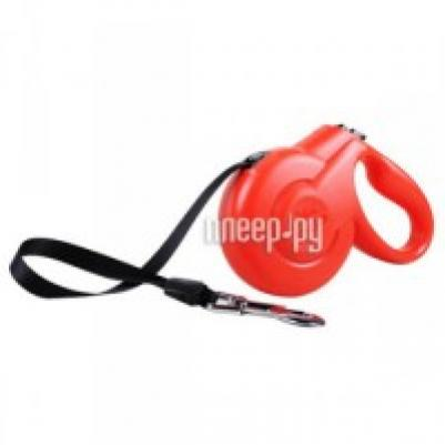 Fida Styleash рулетка-лента для собак средних пород S (до 25кг), красный