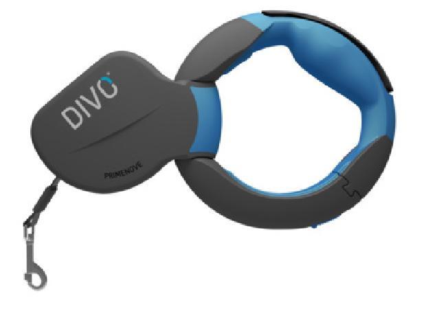 Divo  Рулетка-ремень DIVO с автоматической системой торможения и эргономичной расстегивающейся ручкой,  для собак до 50кг, 3,5м (синяя) DV.1.L.BLU, 0,520 кг