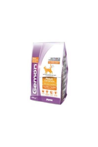 Gemon корм для взрослых кошек всех пород, идеальная кожа и шерсть, тунец и лосось 1,5 кг