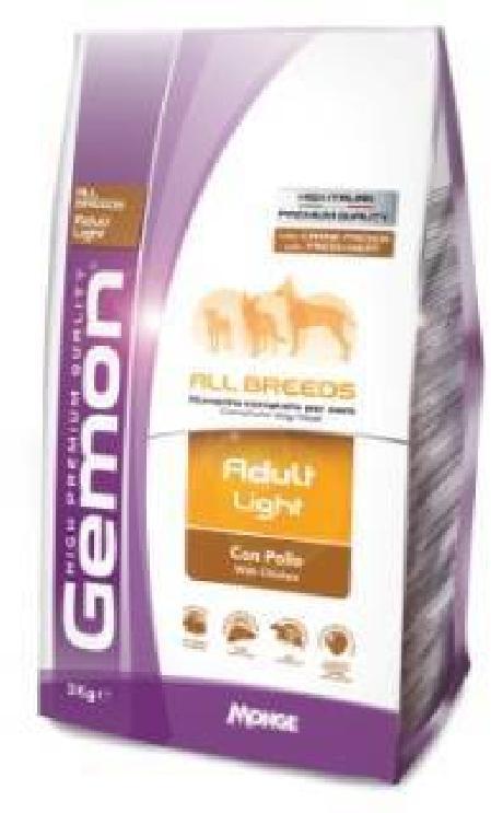 Gemon корм для взрослых собак всех пород, контроль веса 3 кг