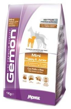 Gemon Dog Mini корм для щенков мелких пород курица с рисом 1 кг