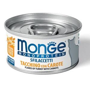 Monge Cat Monoprotein влажный корм для кошек всех возрастов и пород, индейка c морковью 80 гр