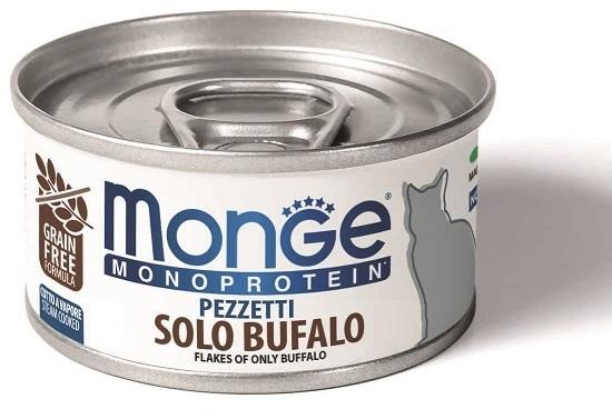 Monge Cat Monoprotein мясные хлопья для взрослых кошек всех пород, мясо буйвола 80 гр