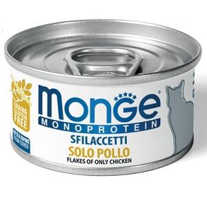 Monge Cat Monoprotein влажный корм для кошек всех возрастов и пород, курица 80 гр