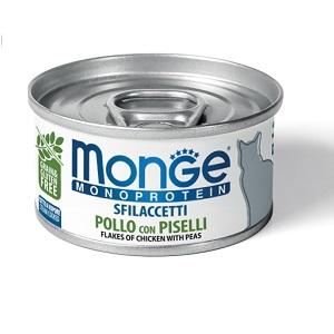 Monge Cat Monoprotein влажный корм для кошек всех возрастов и пород, курица с горошком 80 гр