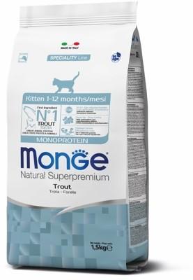Monge Cat Kitten Monoprotein корм для котят всех пород, форель 1,5 кг