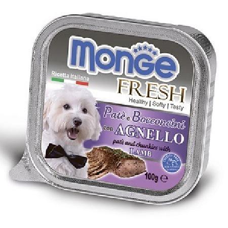 Monge Dog Fresh влажный корм для собак всех пород и возрастов, ягненок 100 гр