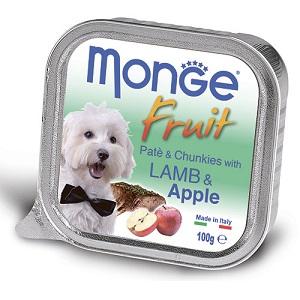 Monge Dog Fruit влажный корм для собак всех пород и возрастов, ягненок с яблоком 100 гр