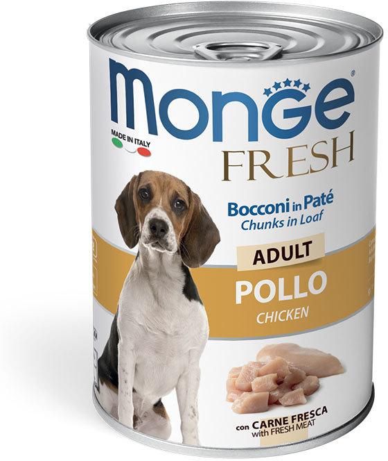 Monge Dog Fresh мясной рулет для взрослых собак всех пород, курица 400 гр