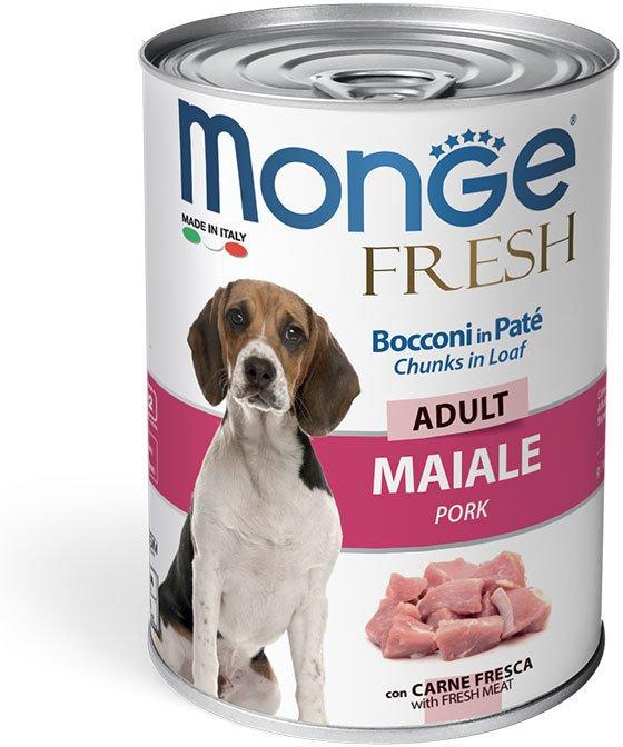 Monge Dog Fresh мясной рулет для взрослых собак всех пород, свинина 400 гр