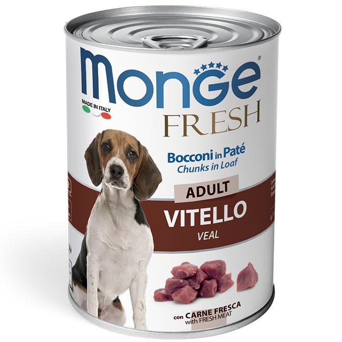 Monge Dog Fresh мясной рулет для взрослых собак всех пород, телятина 400 гр