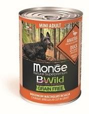Monge Dog BWild Grain Free влажный корм для собак малых пород, беззерновой, утка, тыква и кабачок 400 гр