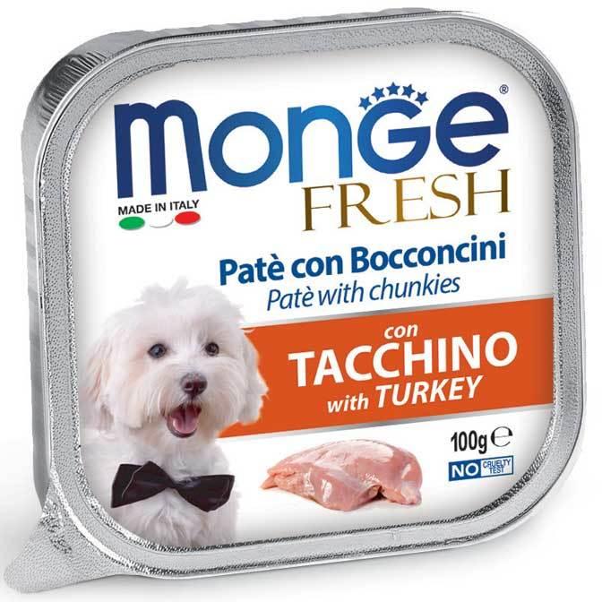 Monge Dog Fresh консервы для собак индейка 100г