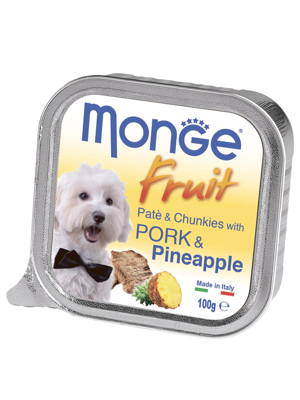 Monge Dog Fruit консервы для собак свинина с ананасом 100г